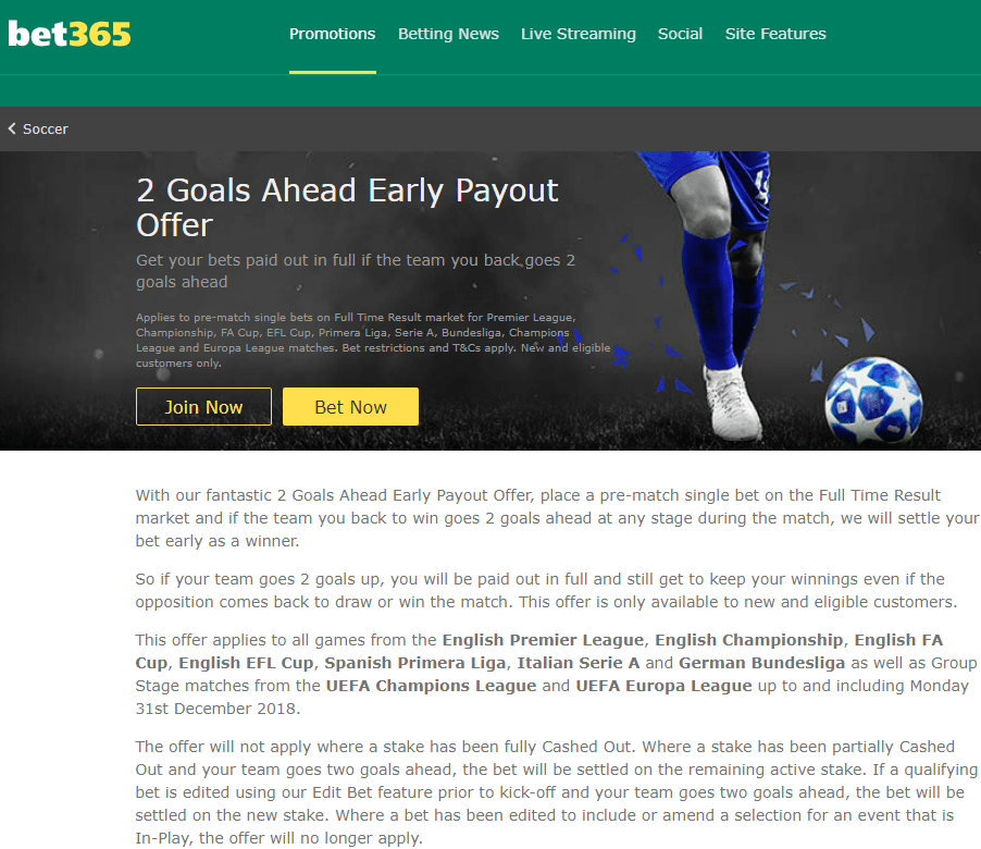 Bet365 Early Payout