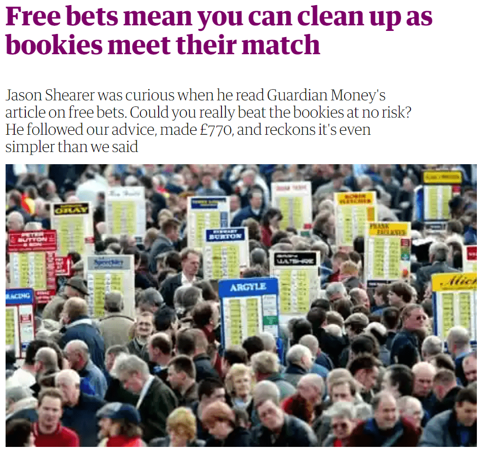 Matched betting - Guardian