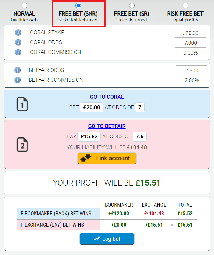 matched betting stake returned