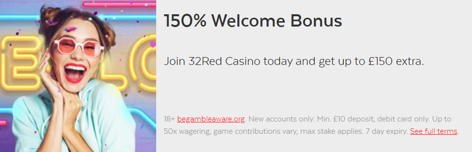 32Red Welcome Casino Offer